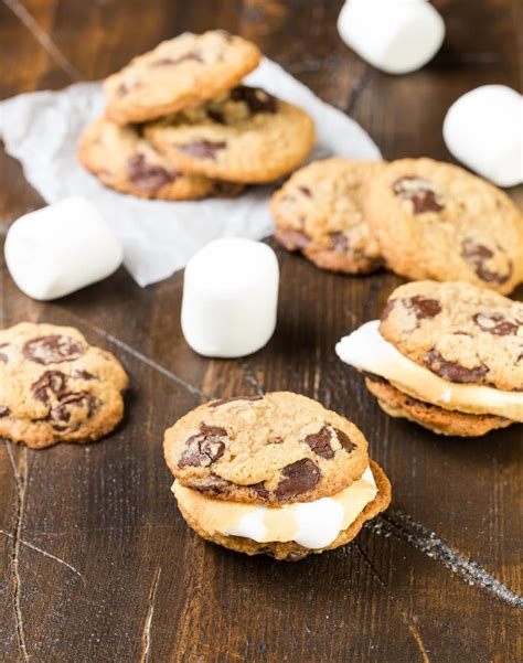 Summer Of Sandwiches With Cookies by S Mores Cookie Sandwiches With Roasted Marshmallows
