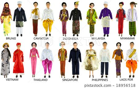 national costumes of asean member states dolls and national dress of southeast asia country