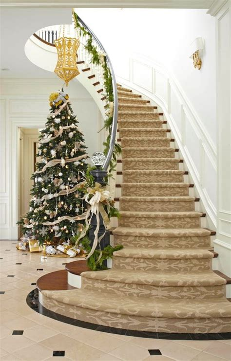 Twig Home Decor by 50 Stunning Christmas Staircase Decorating Ideas Style
