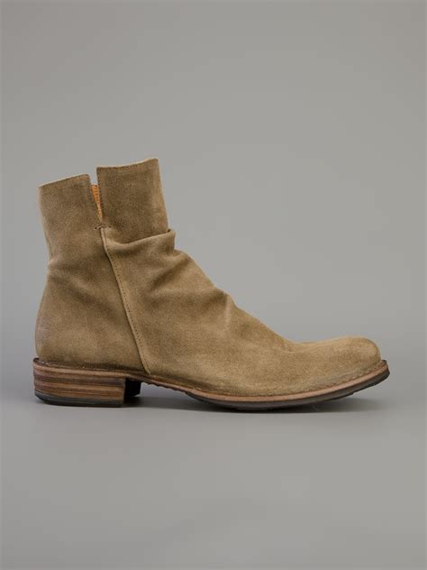 mens fiorentini and baker boots fiorentini baker ankle boot in green for lyst