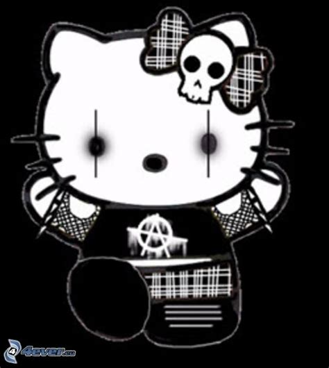 hello kitty rock wallpaper emo hello kitty
