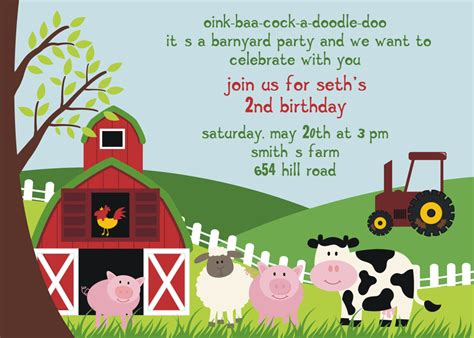 Free Farm Birthday Invitation Templates Free Birthday Party Invitation Templates Free Invitation Templates Drevio