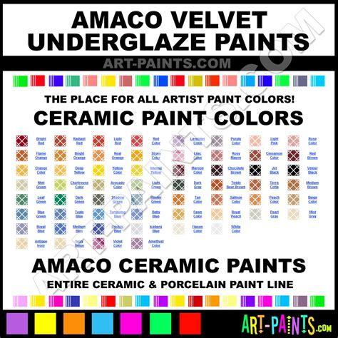 Amaco Underglazes Amaco Velvet Underglaze Ceramic Porcelain Paint Colors