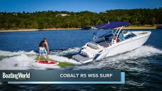 boat test cobalt r5 wss surf boat test youtube