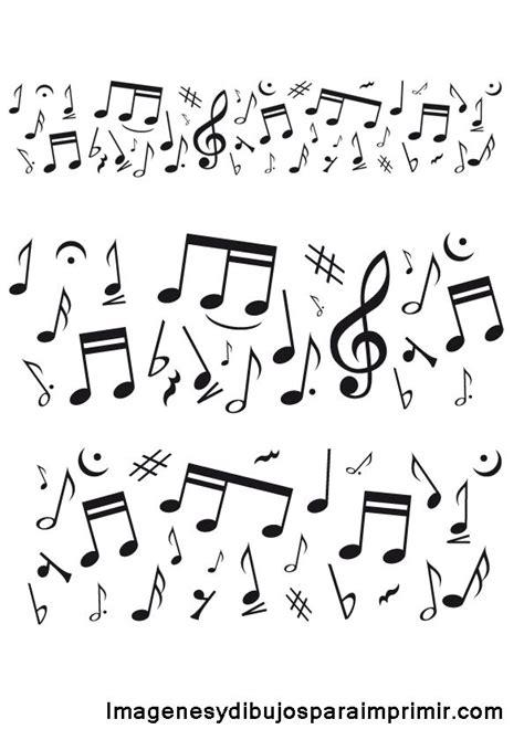 cenefas musicales 15 pines de dibujos de notas musicales que no te puedes