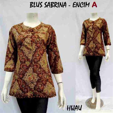 Blus Batik Blouse Batik Kemeja Batik Wanita Arini jual beli blouse batik baju batik wanita blus sabrina