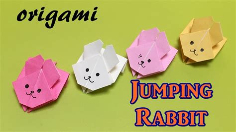 Origami Jumping Rabbit - easy origami for beginners paper jumping rabbit with