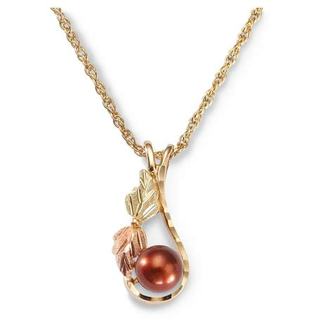 Drop Necklace mt rushmore black gold pearl drop necklace 230516