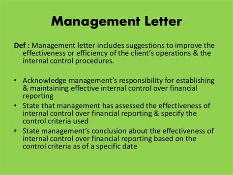 audit management letter audit new zealand management