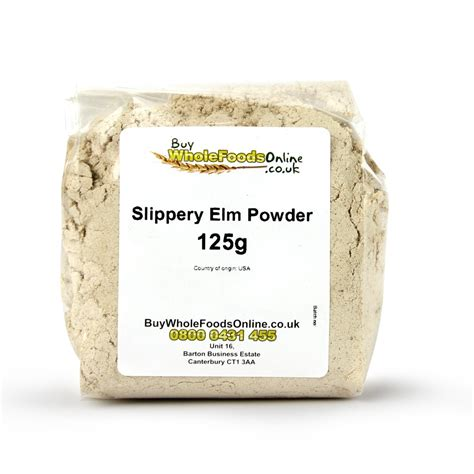 slippery elm for dogs slippery elm powder 125g buy whole foods