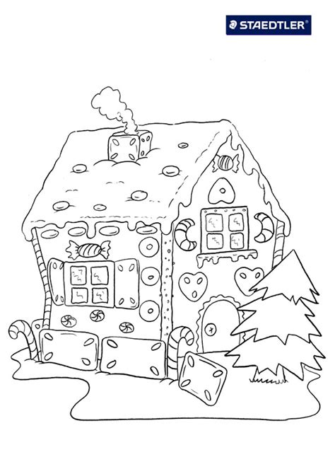 printable gingerbread house free coloring pages of christmas gingerbread house