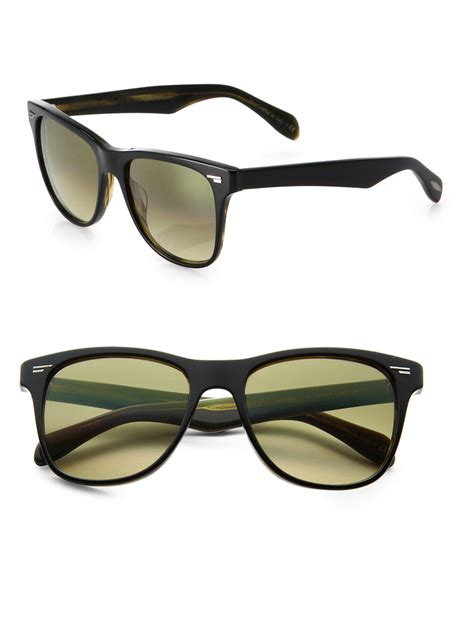 oliver peoples lou 54mm acetate sunglasses in black for