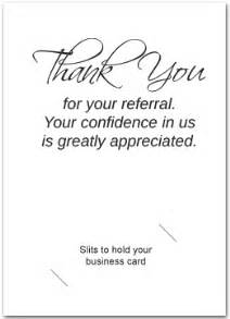 thank you card sles thank you referral cards thank you for referral of patient thank you