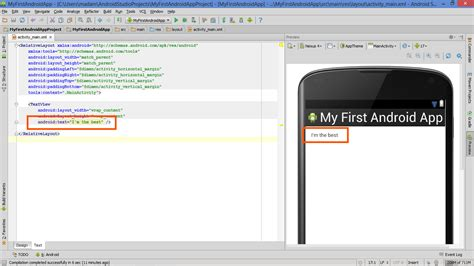 android studio layout half my first app more than hello world textview and android