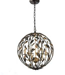 orb chandelier uk country iron orb chandelier in baking finish