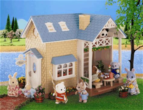 sylvanian families bluebell cottage sylvanian families riverside lodge 163 28 80 delivered at