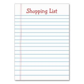 6 Free Shopping List Templates Excel Pdf Formats To Buy List Template