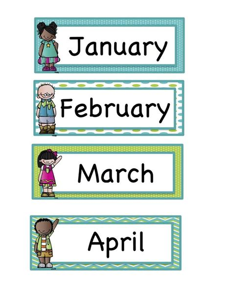 printable calendar labels for classroom 114 best images about early preschool morning board and