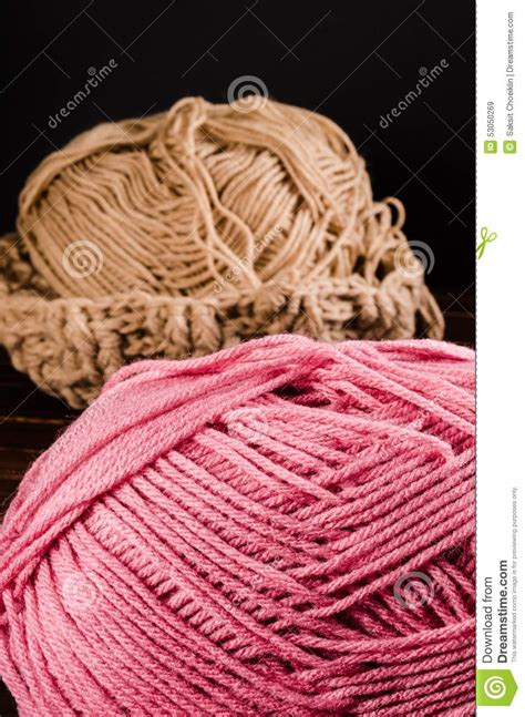 black yarn wallpaper crochet with two ball of yarn stock photo image 53050269