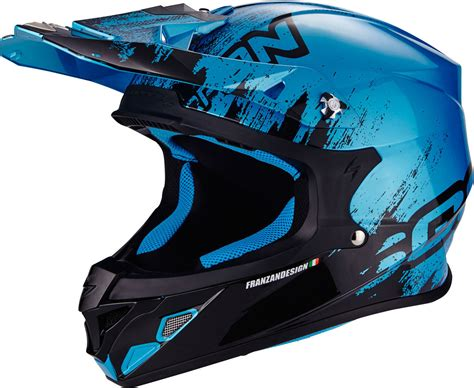 blue motocross helmet scorpion vx 21 air mudirt cross helmet motorcycle