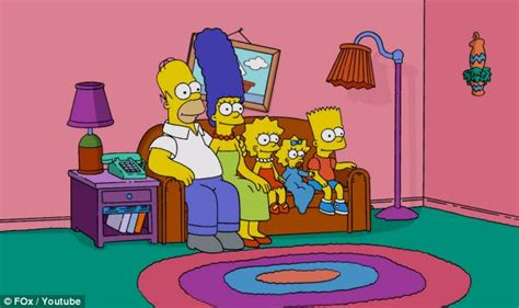 how to draw the simpsons on the couch duff beers a saggy couch and very colorful walls inside