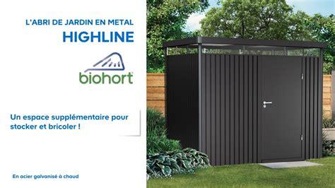 abris de jardin metal castorama abri de jardin m 233 tal high line biohort 638047 castorama