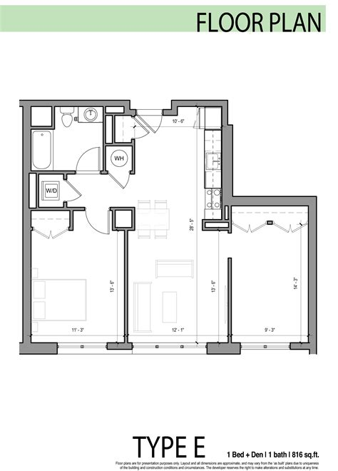 1 bedroom plus den edge allston floor plans