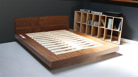 king size platform bed frame  storage plans