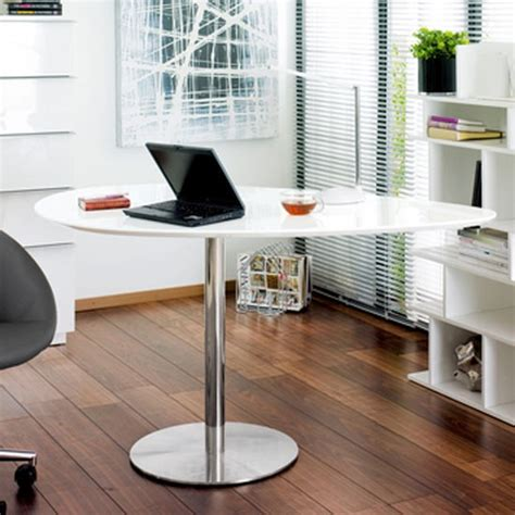 droplet desk in white from dwell desks 19 of the best