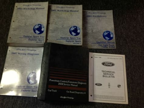 online service manuals 2001 ford explorer sport auto manual 2001 ford explorer sport trac service shop repair manual set w pced ewd more ebay