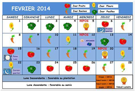 Calendrier Lunaire Jardin Mars 2015 Le Calendrier Lunaire De F 233 Vrier 2014