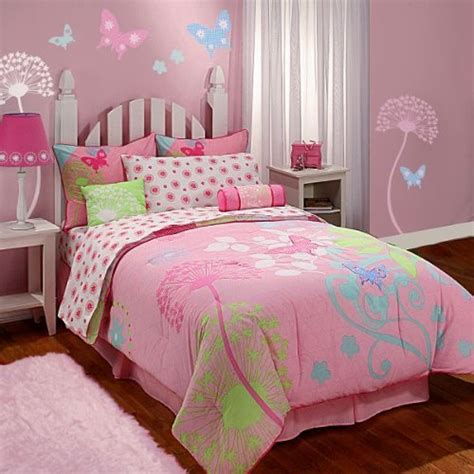 pink butterfly bedroom kids bedding disney bambi forest owl twin size bedding
