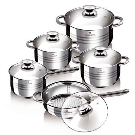 10pcs Jumbo Panci Set Stainless High Quality Kitchen Ware bl 1637 10pcs jumbo cookware set gourmet line blaumann cookware bakeware kitchenware