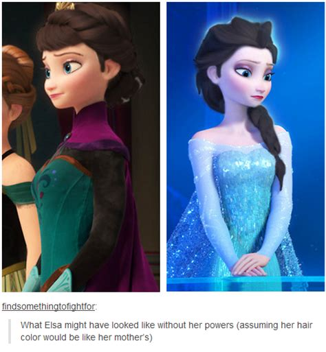 elsa hair color what elsa might looked like without powers