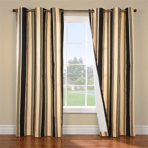 Black And Beige Curtains Weathermate Broadstripe Black Beige Insulated Thermalogic Black Damask Chevron Monogram