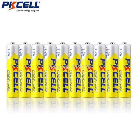 Rechargeable Battery Aaa Ni Mh 1000mah 1 2v Batterai Charger Diskon 1 10pieces pkcell 1 2v aaa 3a nimh 1000mah aaa battery