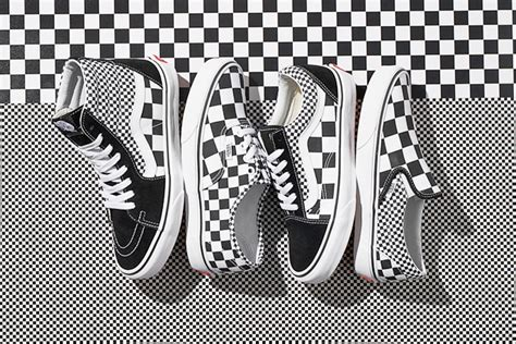 vans checkered pattern vans remixes its iconic checkerboard print on four classic