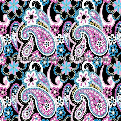 paisley design print fabric polyester lycra printed fabric buy paisley design print fabric