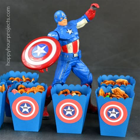 captain america  treat boxes  mms  mix