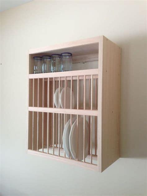 custom cabinet style plate racks shown in oak