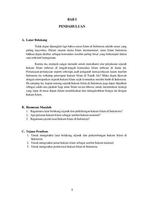 Makalah Sejarah Hukum Islam Di Indonesia - Guru Paud