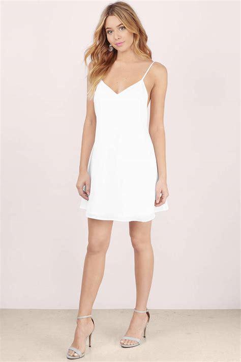 R Md White Dress white shift dress v neck dress white dress 52 00