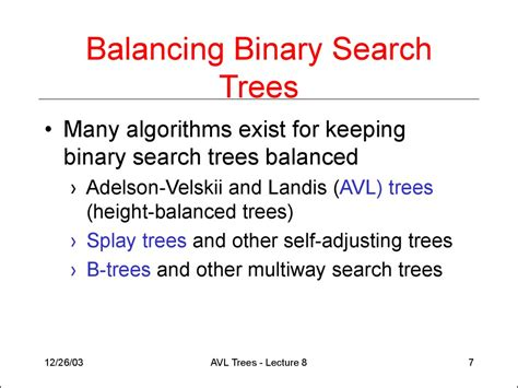 Worst Running Time Of Binary Search Avl Trees Lecture 8 презентация онлайн