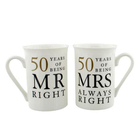 Golden Wedding by 50th Golden Wedding Anniversary Mr Mrs Mug Set Gift 50