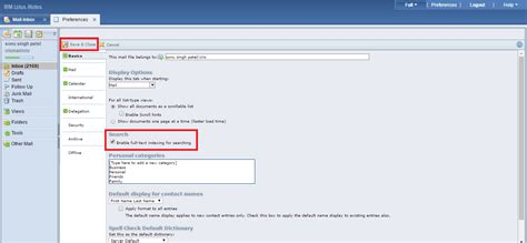 lotus notes search how to enable search in the ibm lotus notes inotes