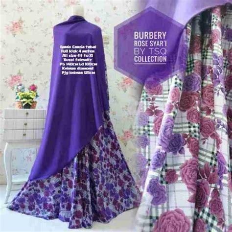 Harga Gamis Burberry gamis syar i cantik b100 burberry jersey motif bunga