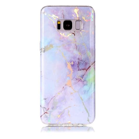 Samsung S8 Pink Gold for samsung galaxy s8 pink gold marble pattern soft protective back cover alex nld