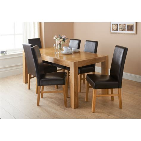 newbury oak dining set 7pc dining furniture dining table
