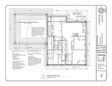 foundation layout exles construction plan bluejetty ca home design saskatoon