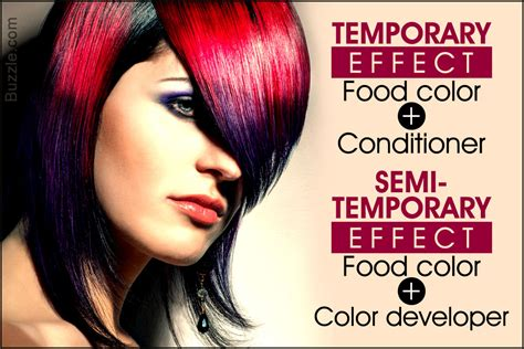 yes you can dye your hair with food coloring here s how